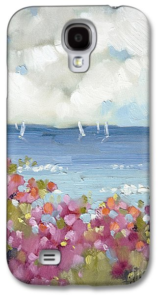 Clouds Paintings Galaxy S4 Cases - Nantucket Sea Roses Galaxy S4 Case by Joyce Hicks