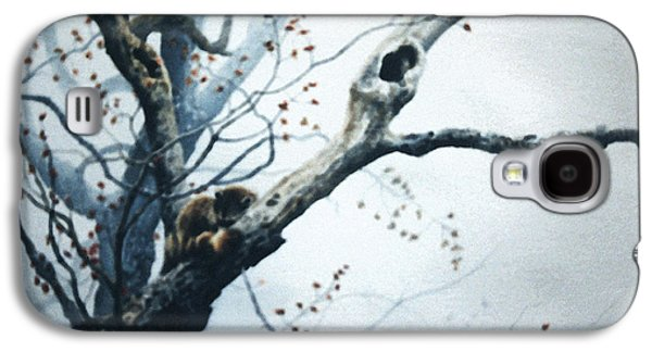 Woodlands Scene Paintings Galaxy S4 Cases - Nap In The Mist Galaxy S4 Case by Hanne Lore Koehler