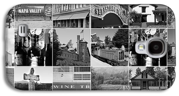 Sonoma County Vineyards. Galaxy S4 Cases - Napa Sonoma County Wine Country 20140906 black and white Galaxy S4 Case by Wingsdomain Art and Photography