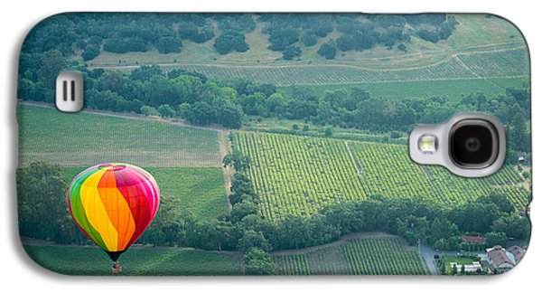 Napa Valley Vineyard Galaxy S4 Cases - Napa Valley Aloft Galaxy S4 Case by Steve Gadomski