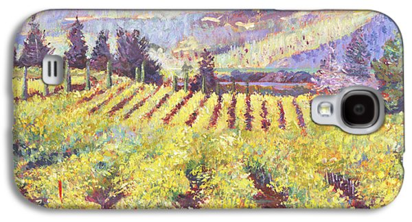 Pastoral Paintings Galaxy S4 Cases - Napa Valley Vineyards Galaxy S4 Case by David Lloyd Glover