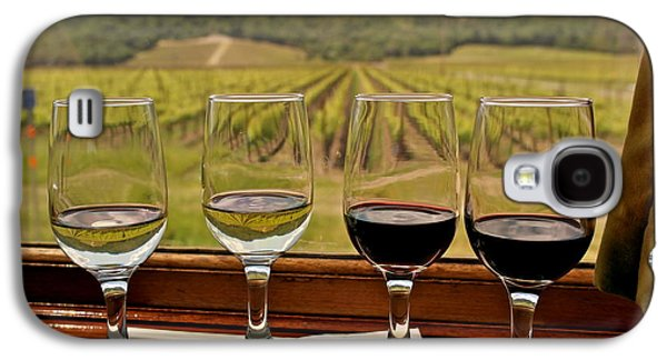 Wine Sipping Galaxy S4 Cases - Napa Valley Wine Train Delights Galaxy S4 Case by Michele Myers