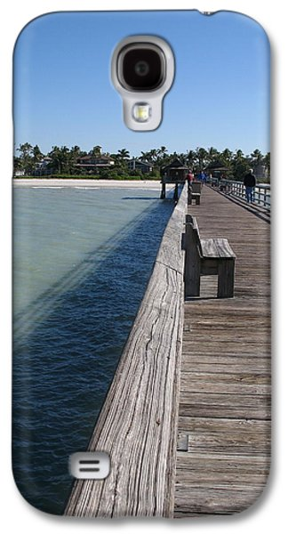 Beach Landscape Galaxy S4 Cases - Naples Historic Pier Galaxy S4 Case by Christiane Schulze Art And Photography