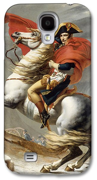 War Paintings Galaxy S4 Cases - Napoleon Bonaparte on Horseback Galaxy S4 Case by War Is Hell Store
