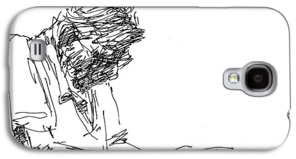 Men Drawings Galaxy S4 Cases - Napping At Waiting Room Galaxy S4 Case by Ylli Haruni