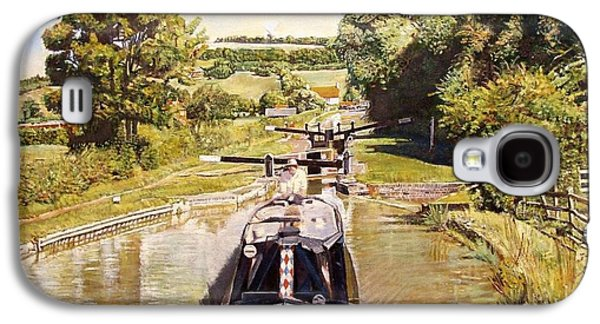 The Hills Galaxy S4 Cases - Napton Top Lock, 2008 Oil On Canvas Galaxy S4 Case by Kevin Parrish