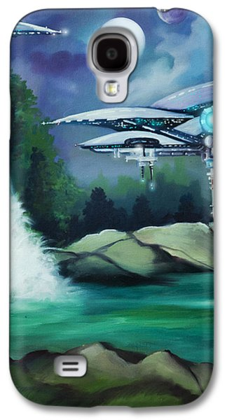 Stellar Paintings Galaxy S4 Cases - Narada City  Galaxy S4 Case by James Christopher Hill