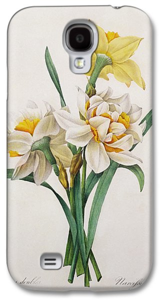 In Bloom Galaxy S4 Cases - Narcissus gouani Galaxy S4 Case by Pierre Joseph Redoute