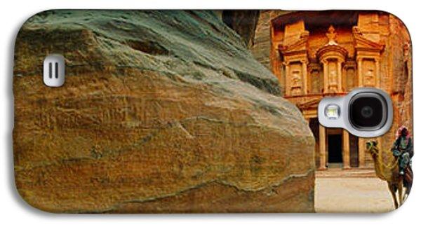Petra Galaxy S4 Cases - Narrow Passageway At Al Khazneh, Petra Galaxy S4 Case by Panoramic Images
