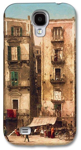 Horse And Cart Digital Art Galaxy S4 Cases - Narrow Streets Galaxy S4 Case by John K Woodruff