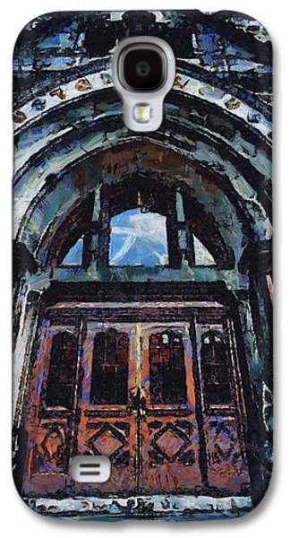 Nashville Paintings Galaxy S4 Cases - Nashville Custom House Entrance Galaxy S4 Case by Dan Sproul