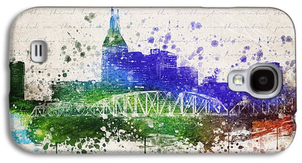 Nashville In Color Galaxy S4 Case by Aged Pixel