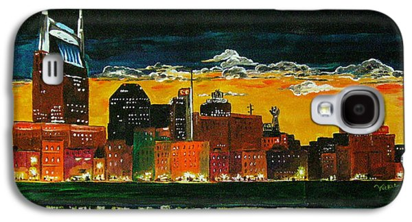 Nashville Paintings Galaxy S4 Cases - Nashville Night Galaxy S4 Case by Vickie Warner