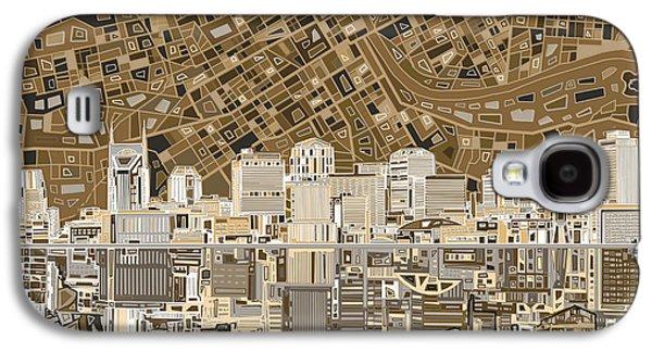 Nashville Skyline Abstract 2 Galaxy S4 Case by Bekim Art