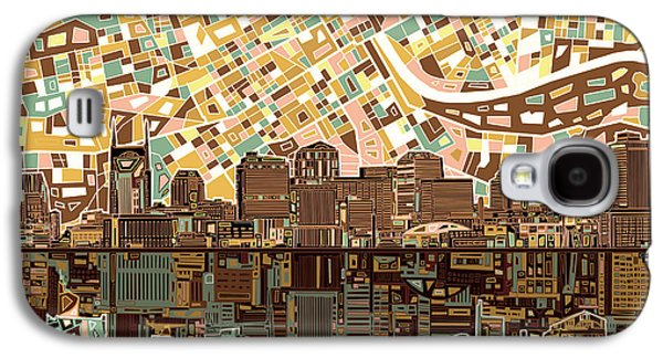 Abstract Digital Digital Galaxy S4 Cases - Nashville Skyline Abstract 4 Galaxy S4 Case by MB Art factory