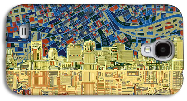 Abstract Digital Digital Galaxy S4 Cases - Nashville Skyline Abstract 9 Galaxy S4 Case by MB Art factory