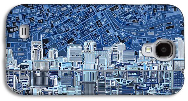 Abstract Digital Galaxy S4 Cases - Nashville Skyline Abstract Galaxy S4 Case by MB Art factory