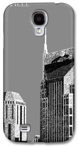 Nashville Tennessee Galaxy S4 Cases - Nashville Skyline AT and T Batman Building - Pewter Galaxy S4 Case by DB Artist