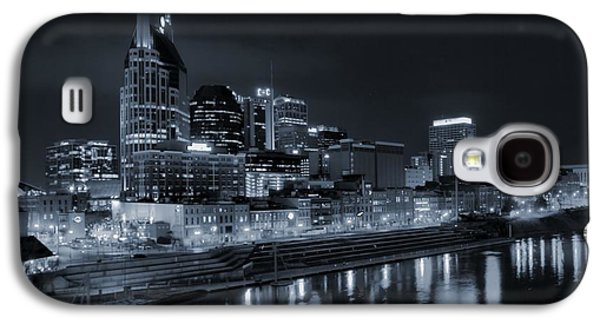 Nashville Skyline At Night Galaxy S4 Case by Dan Sproul