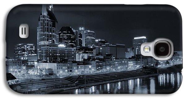 Nashville Skyline At Night Galaxy S4 Case by Dan Sproul