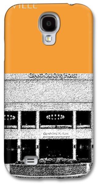Nashville Tennessee Galaxy S4 Cases - Nashville Skyline Grand Ole Opry - Orange Galaxy S4 Case by DB Artist