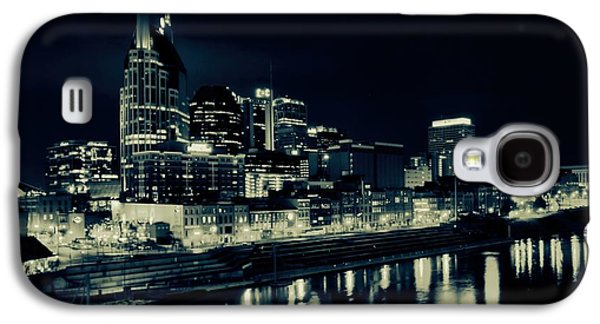 Nashville Skyline Reflected At Night Galaxy S4 Case by Dan Sproul