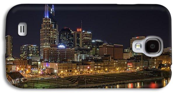 Nashville Tennessee Galaxy S4 Cases - Nashville Skyline Galaxy S4 Case by Rick Berk