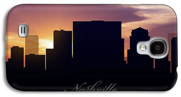 Nashville Galaxy S4 Cases - Nashville Sunset Galaxy S4 Case by Aged Pixel