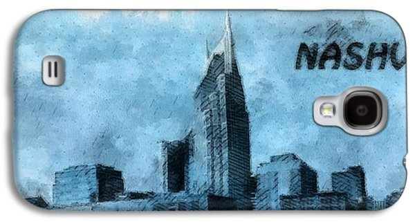 Nashville Tennessee In Blue Galaxy S4 Case by Dan Sproul
