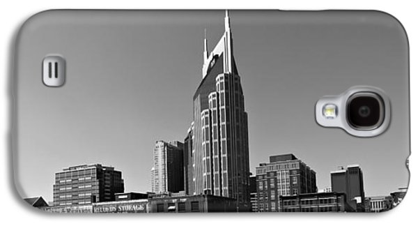 Nashville Tennessee Skyline Black And White Galaxy S4 Case by Dan Sproul