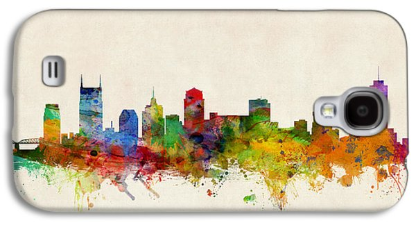 City Digital Art Galaxy S4 Cases - Nashville Tennessee Skyline Galaxy S4 Case by Michael Tompsett
