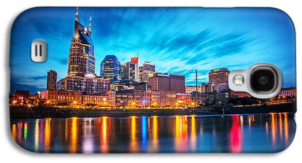 Nashville Tennessee Galaxy S4 Cases - Nashville Twilight Galaxy S4 Case by Lucas Foley
