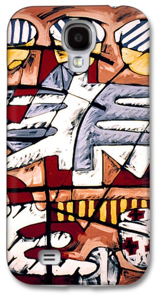 Linocut Paintings Galaxy S4 Cases - Nassau Good Friday Galaxy S4 Case by Philip Slagter
