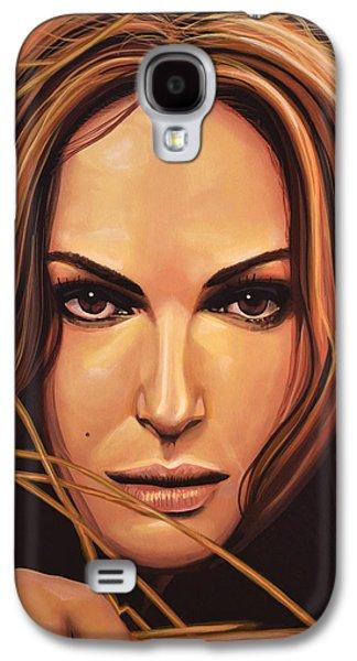 Swans... Paintings Galaxy S4 Cases - Natalie Portman Galaxy S4 Case by Paul  Meijering