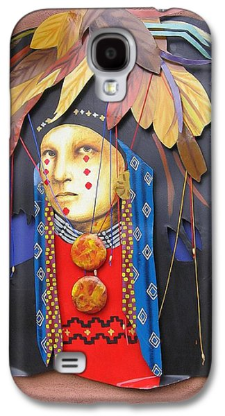 Warrior Goddess Photographs Galaxy S4 Cases - Native American Artwork Galaxy S4 Case by  Photographic Art and Design by Dora Sofia Caputo