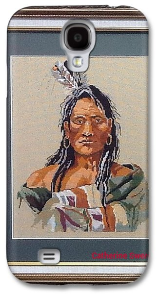 Americans Tapestries - Textiles Galaxy S4 Cases - Native American Galaxy S4 Case by Catherine Swerediuk