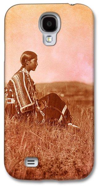 Landmarks Photographs Galaxy S4 Cases - Native American Piegan Blackfeet woman Galaxy S4 Case by Cat Whipple