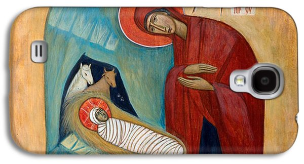 Greek Icon Paintings Galaxy S4 Cases - Nativity Galaxy S4 Case by Basia Mindewicz