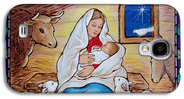 Bible Pyrography Galaxy S4 Cases - Nativity Galaxy S4 Case by Eileen Annest