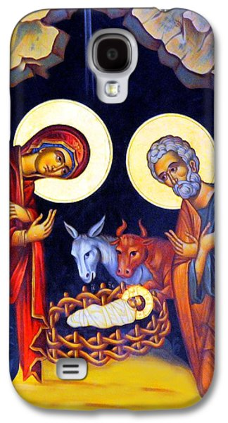 Orthodox Icon Galaxy S4 Cases - Nativity Feast Galaxy S4 Case by Munir Alawi