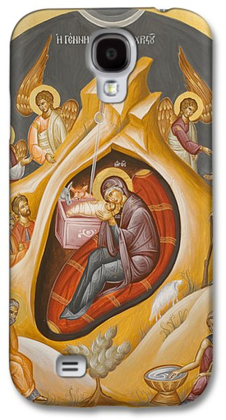 Julia Bridget Hayes Galaxy S4 Cases - Nativity of Christ Galaxy S4 Case by Julia Bridget Hayes