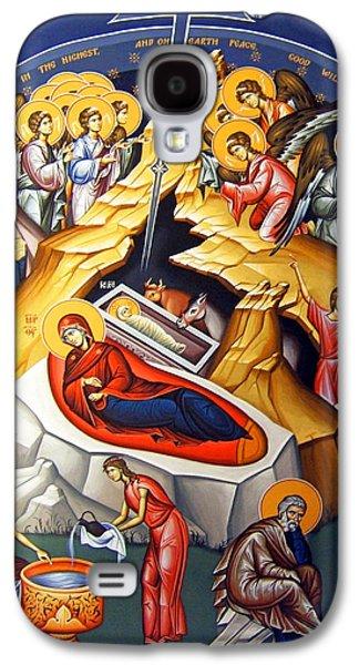 Orthodox Icon Galaxy S4 Cases - Nativity Story Galaxy S4 Case by Munir Alawi