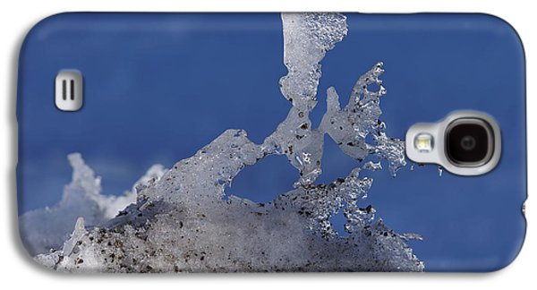 Snow Melt Galaxy S4 Cases - Natural Ice Sculpture Galaxy S4 Case by Ernie Echols