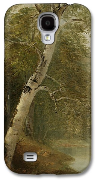 Nature Study Paintings Galaxy S4 Cases - Nature Study   A Birch Tree Galaxy S4 Case by Asher Brown Durand
