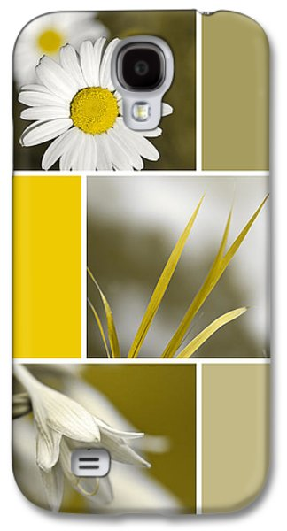 Nature's Beauty Golden Flowers Collage Galaxy S4 Case by Christina Rollo