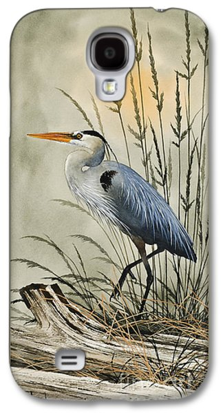 Heron Paintings Galaxy S4 Cases - Natures Beauty Galaxy S4 Case by James Williamson