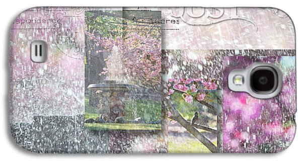Waterscape Mixed Media Galaxy S4 Cases - Natures Bounty Collage Galaxy S4 Case by Anahi DeCanio - ArtyZen Studios