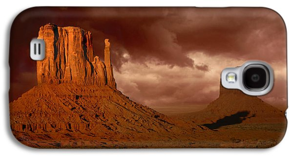 Americans Pyrography Galaxy S4 Cases - Natures Fury in Monument Valley Arizona Galaxy S4 Case by Katrina Brown