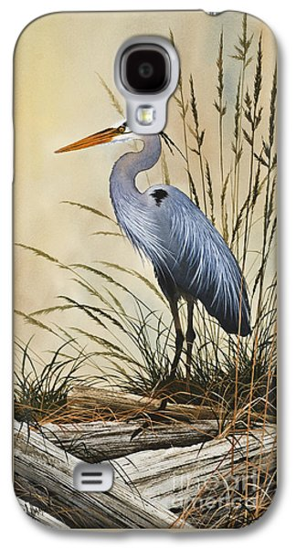 Heron Paintings Galaxy S4 Cases - Natures Grace Galaxy S4 Case by James Williamson