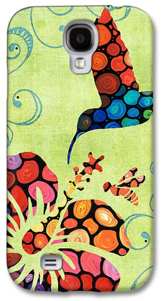 Hibiscus Galaxy S4 Cases - Natures Harmony 2 - Hummingbird Art By Sharon Cummings Galaxy S4 Case by Sharon Cummings